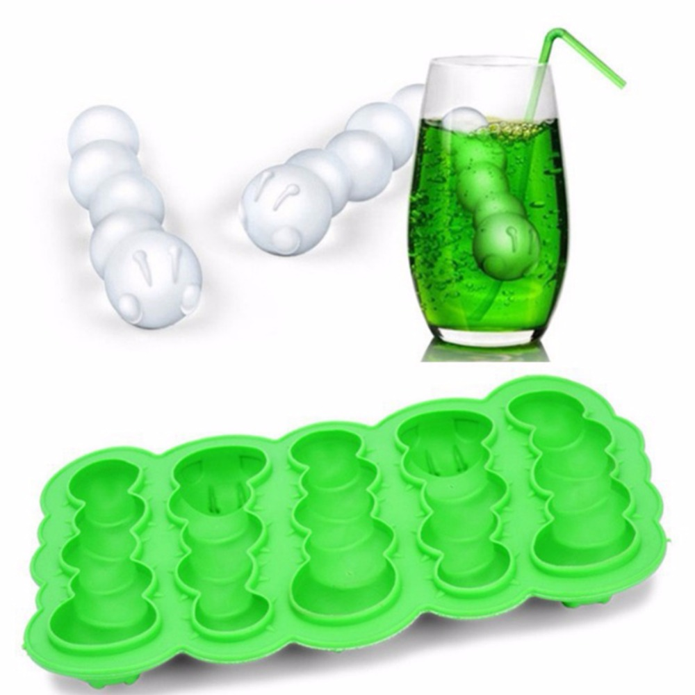 New TPR 3D Ice Cube Mold Ice Tray with Lid Makes Ice Cubes Maker Silicone Candy Chocolate Maker Bar Accessories