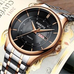 Image 3 - NIBOSI Rose Gold Men Watch Luxury Top Brand Mens Watch Fashion Military Quartz Wristwatch Clock Male Sport Relogio Masculino
