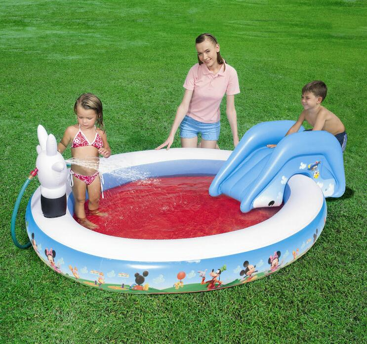 231cm Eco-friendly PVC Spring Kids Baby Inflatable Slide Play Swimming Pool Piscina Children Kids Large Swim Boat S7013 239cm eco friendly spring pvc kids baby inflatable slide play swimming pool piscina children kids large swim boat s7011
