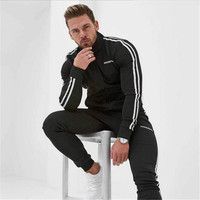 2017 Men Sweatpants Autumn Winter Joggers Slim Fit Trousers Gyms Fitness Bodybuilding Casual Fashion Solid Brand