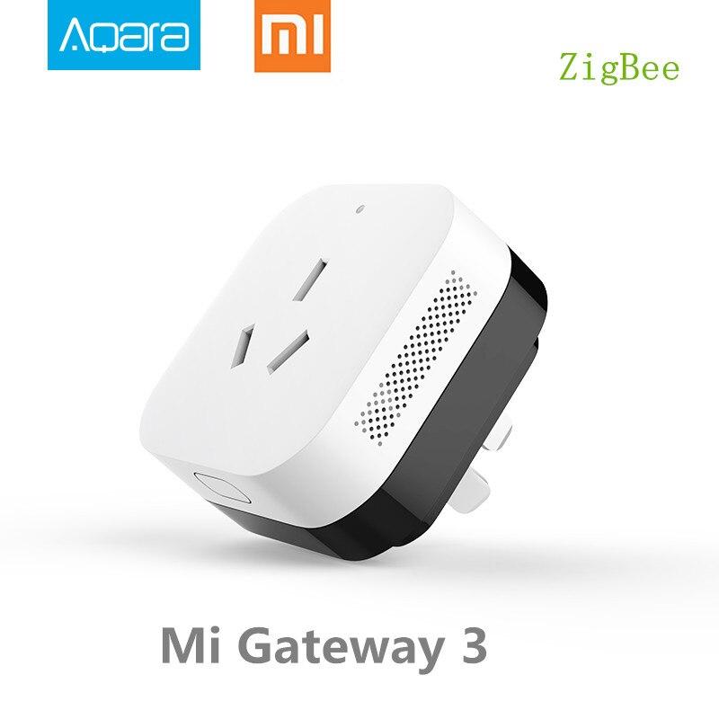 Em Estoque, Xiao Mi Gateway 3 Aqara Ar Condicionado Companheiro Gateway Mi Mi Nação Função De Detecção De Trabalho Com Mi Casa Inteligente Kits