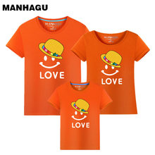 1piece New Mother Father Baby Daughter Fashion T-shirts Love Letters Cotton Girls Short Slevee Son Shirt Family Matching Outfits
