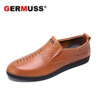 Germuss minimalist shoes mens shoes casual genuine leather Italian Fashion loafers leather brown sneakers for men