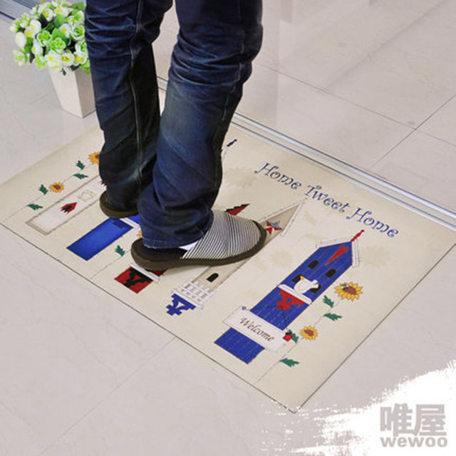 High Quality Doormat Ultra Thin Rubber Sole Flannelet Floor Mat Rugs And Carpets Fashion Cartoon