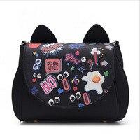 2016 New Sailor Moon Bag Ladies Hand Bags Black White Bags Women Crossbody Bags Famous Brand