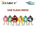 usb flash drive new pen drive cartoon usb2.0 M&M rainbow beans 4gb 8gb 16gb 32gb 64gb bulk  flash memory stick pendrive mini
