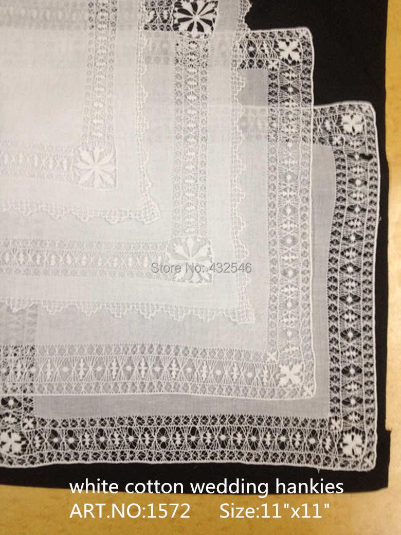 """Novedad pañuelos para mujer 4 pzas/unids/lote 11x11 """"blanco Otón boda pañuelo bordado Vintage para ocasiones especiales"""