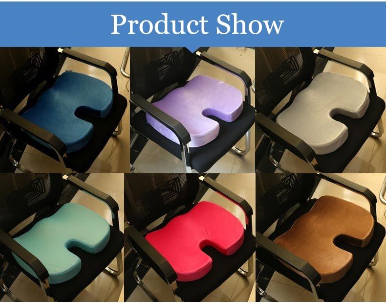 HTB14kFKpv5TBuNjSspmq6yDRVXag PurenLatex 45*35*7 Hot Sale Slow Rebound Bamboo Charcoal Memory Foam Chair Car Seat Hips Pillow Tailbone Coccyx Protect Cushion