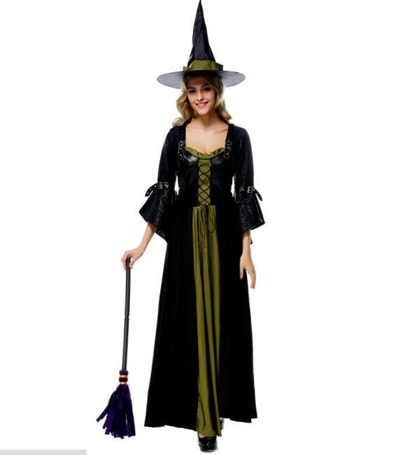 Ensen Witch font b cosplay b font costumes vestidos fantasia adulto dress queen font b anime