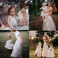 BOBOZONE 2019 TUTU Star sequined veil dress for kids girls mother skirt