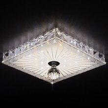 Встраиваемые/поверхностного монтажа спальня светодиодные лампы потолочные 220 В/110 В площадь кристалла потолочные светильники проходу светильники 19X19 СМ