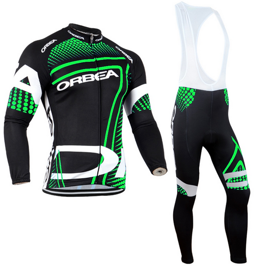 ORBEA 2016 long sleeve cycling wear clothes bicycle cycling jersey bib pants set Breathable clothing set 3d silicone cube 2012 team long sleeve autumn bib cycling wear clothes bicycle bike riding cycling jerseys bib pants set