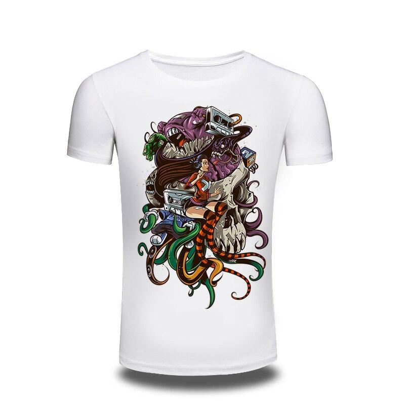 bbf7bbf65c76c 2016 yaz yaratıcı erkekler T gömlek Punk Rock T-Shirt Lady kafatası baskılı  T Shirt Hip Hop adam Tee sokak- giyim erkekler Tshirt