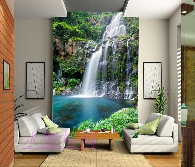 Wholesale 3d Wall Mural Wallpaper Living Room Entranceway Background Wall  Waterfall Murals Landscape Wall Photo Murals Part 76