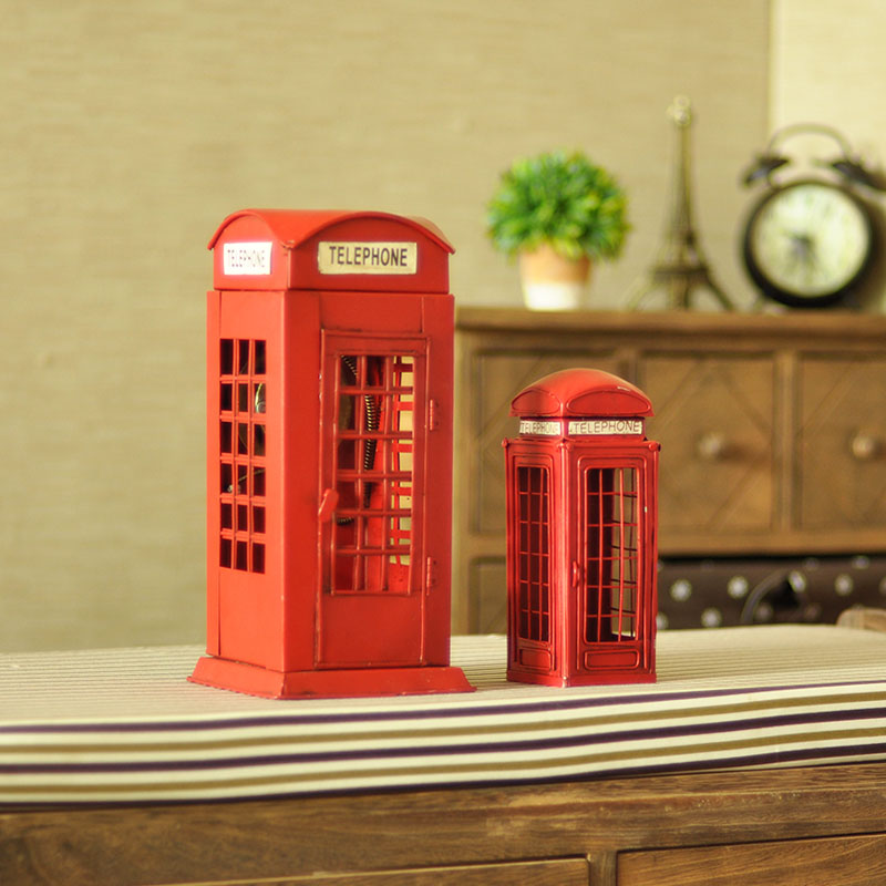 Floor Decor Coupons: XXXG Retro British Phone Booth Bookcase Wine Piggy Room