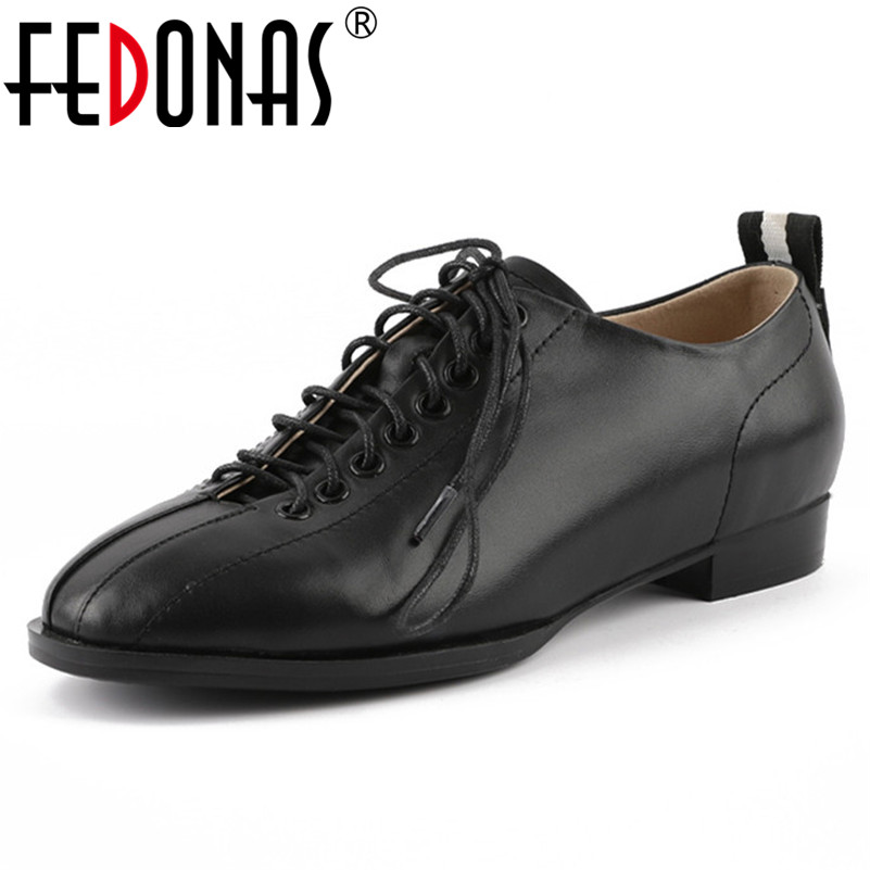 FEDONA Fashion Women Flats Genuine Leather Shoes Woman Corss-tied Round Toe Casual Loafers Shoes Ladies Brand New Autumn Flats asumer white spring autumn women shoes round toe ladies genuine leather flats shoes casual sneakers single shoes
