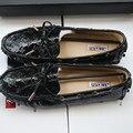 Brand New США Размер Верхняя Кожа Комфорт Поскользнуться На Пенни Loafer Плоским балерина Женщины Дамы Вскользь Вождения Автомобиля Обувь