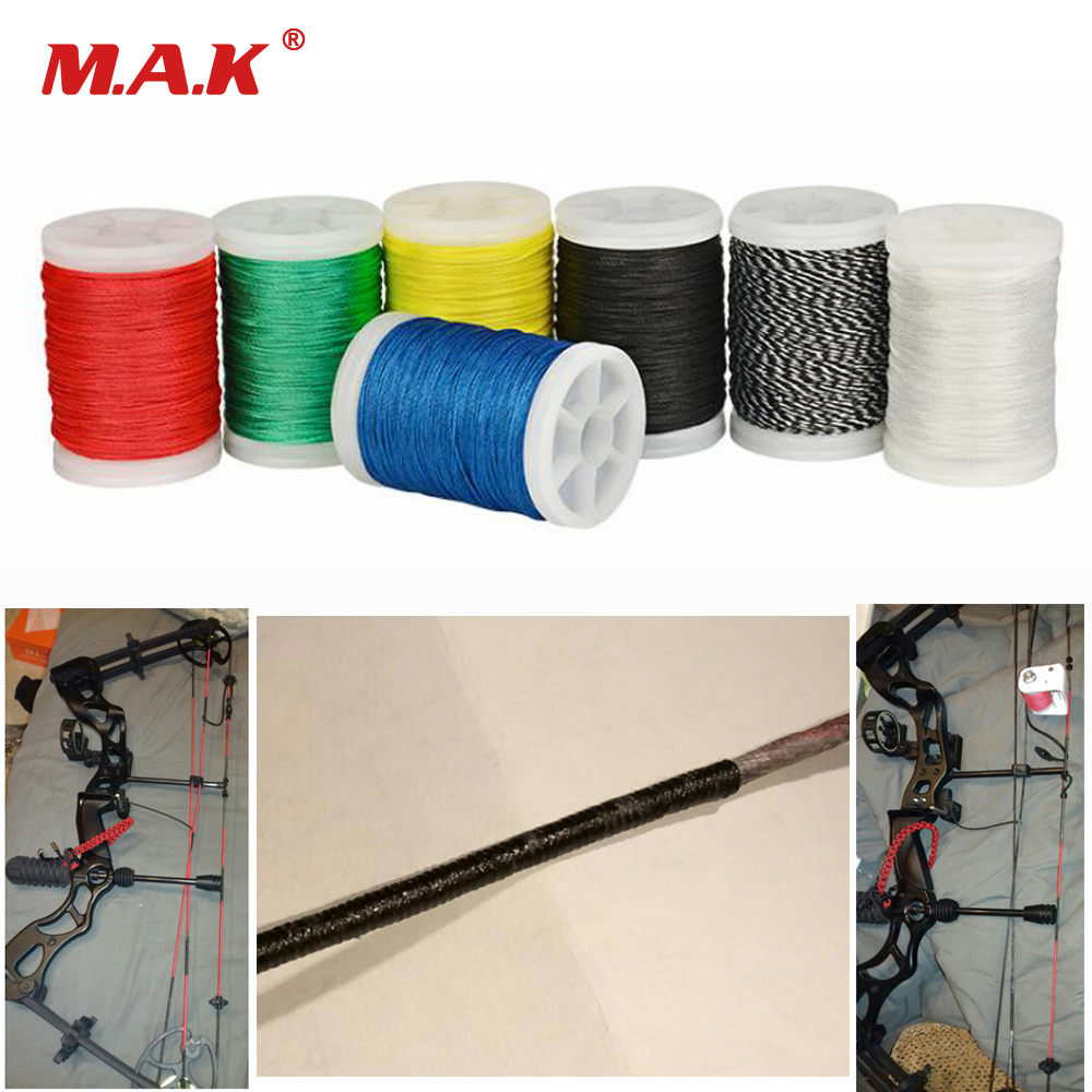 1pc 110m Diameter 0.4mm 7 Color Archery Bow String Serving Thread Bowstring Rope Making Thread For Recurve Compound Bow Hunting