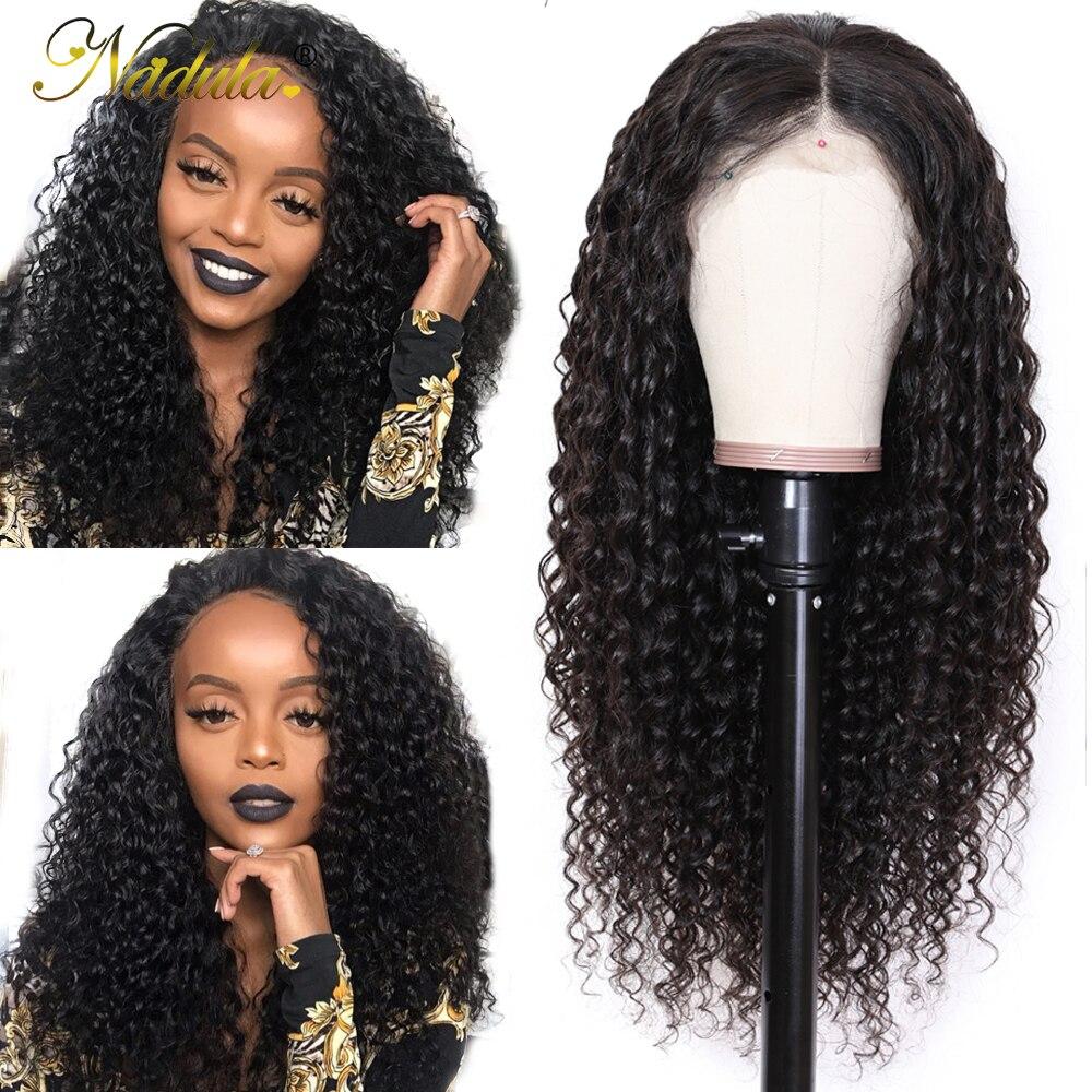 Nadula Hair 13 4 13 6 Deep Wave Lace Front Human Hair Wigs For Women Brazilian