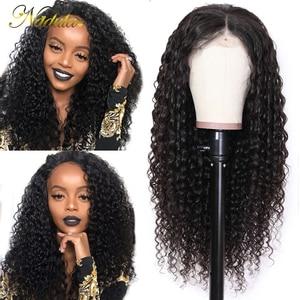 Image 1 - Nadula 머리 13*4/13*6 딥 웨이브 레이스 프런트 인간의 머리가 발 여성을위한 브라질 레미 헤어 스위스 레이스가 발 평균 크기