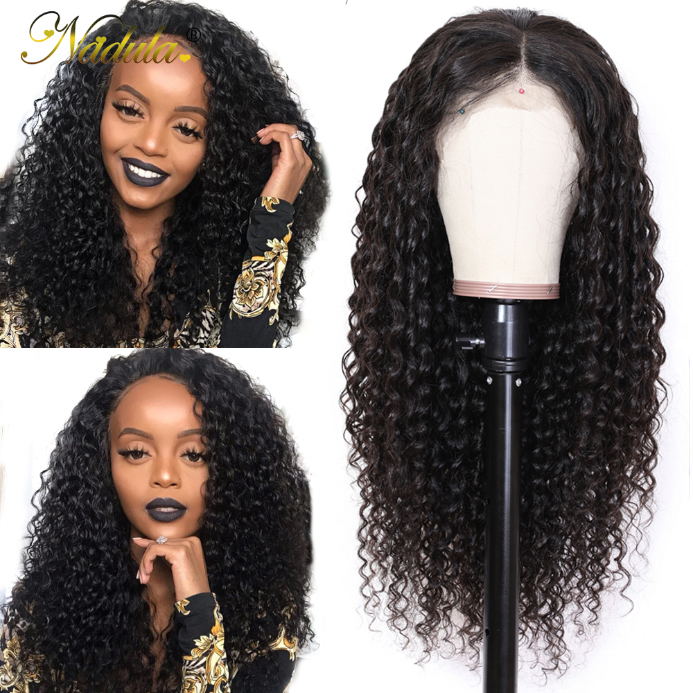 Nadula Hair 13*4/13*6 Deep Wave Lace Front Human Hair Wigs For Women Brazilian Remy Hair Swiss Lace Wig Average Size
