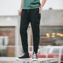 Модные повседневные брюки-карго в стиле сафари, мешковатые армейские брюки с карманами, мужские длинные брюки, мешковатые брюки Kanye West