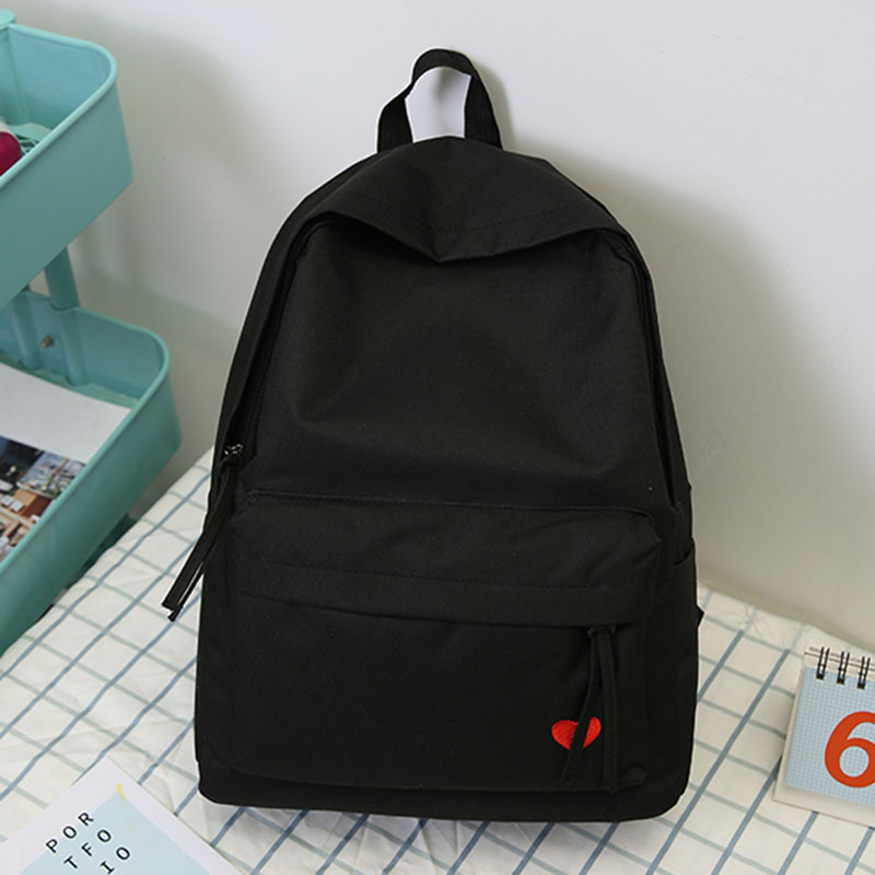 2019 New Korean High School Student Schoolbag Female Black Yellow Canvas Backpack For Girls Bolsas Mochilas Femininas Back Bag