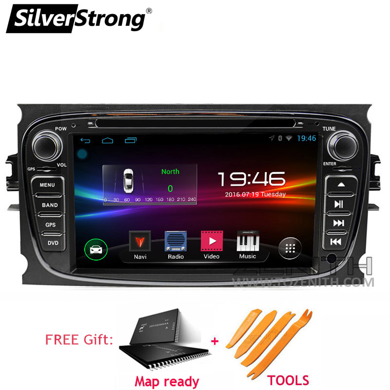 SilverStrong 7inch Car 2Din Focus2 Android9 0 Car DVD For Ford FOCUS2 Galaxy Mondeo Car GPS