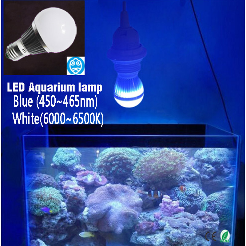 LED-akvarielampor - AC85 ~ 265V E27 / E14 / GU10, 6W / 10W / 14W, ger belysning för fiskbehållare och vattenväxter Glödlampor
