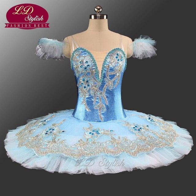 e170d0d5ff Pássaro azul Mulheres Azul Tutus de Ballet Clássico Tutu de Balé  Profissional Desempenho Figurinos de Balé