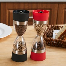 Manual Hourglass Shape Cook Dual Salt Pepper Mill Spice Grinder for Kitchen Cooking Tools