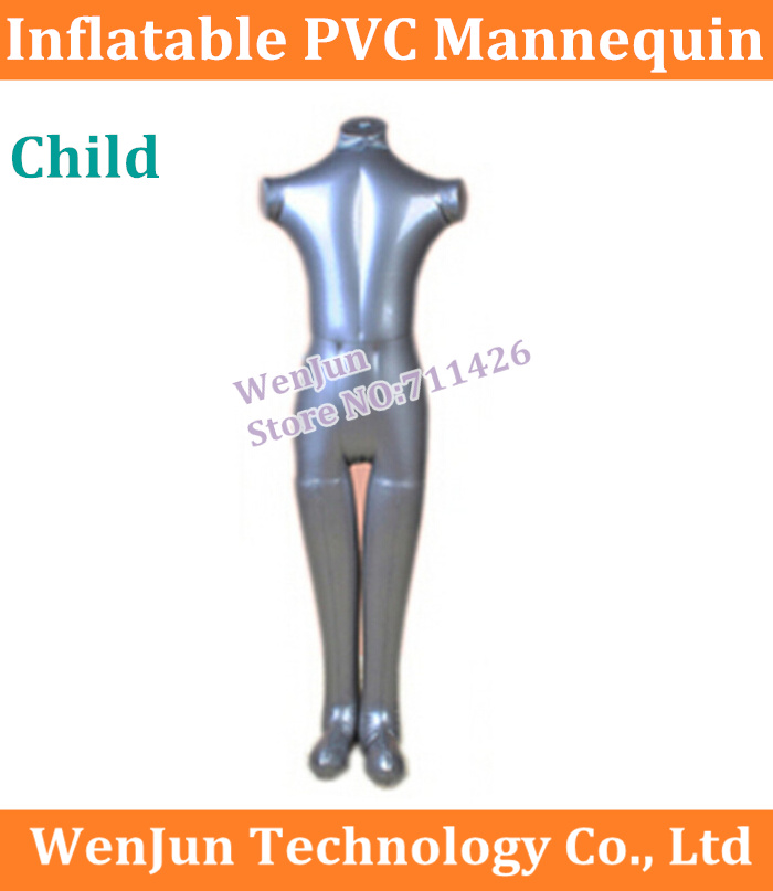 Children Full Body Dress Pants Underwear Inflatable Pvc Mannequin Dummies Torso Model 5pcs/lot Computer & Office