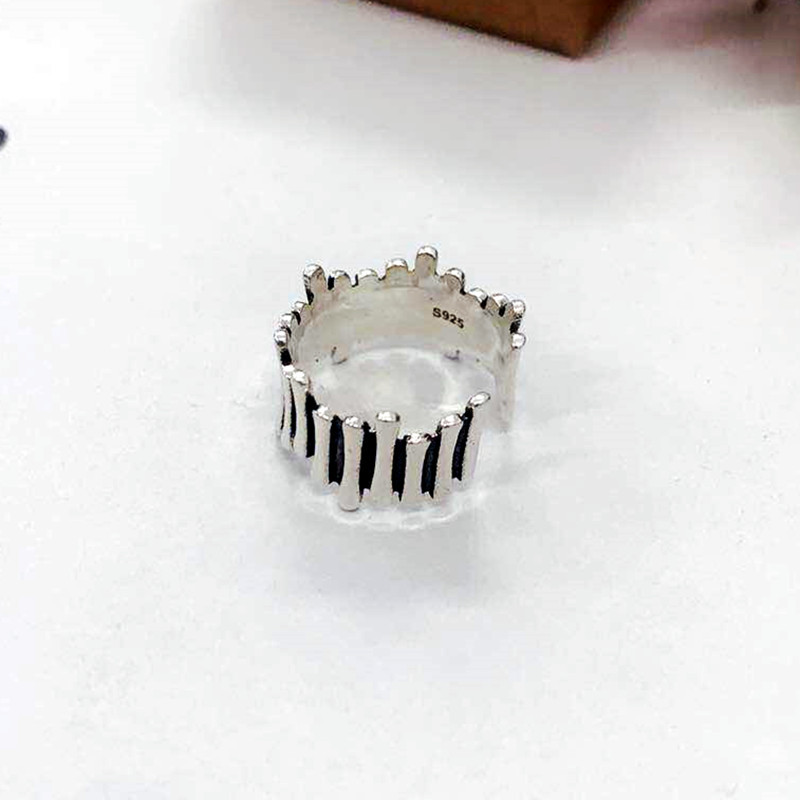 Fashion Vintage Silver Color Geometric Rings for Women Jewelry Adjustable Size Finger Engagement Antique Ring 5