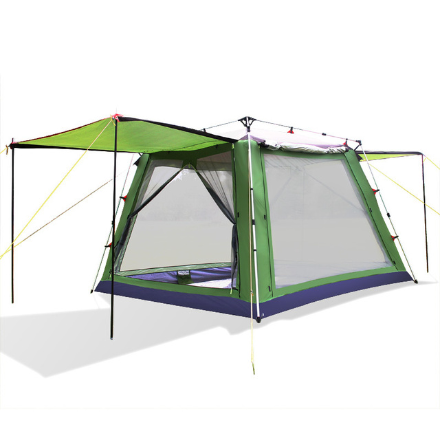 Outdoor Automatic Waterproof Large Tents Instant Beach Camping Tent Pop Up Awning Tarp Aluminum Rod Family