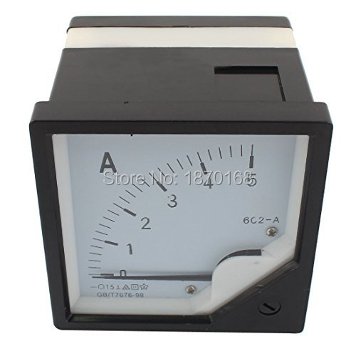 6C2 80mm x 80mm Square Panel DC 1A 2A 3A 5A 10A 15A 20A 30A 50A 75A 100A 150A 200A 300A 400A 500A 600A 1KA Analog Meter Ammeter open cable connector ring lug copper passing through terminals ot 200a 250a 300a 400a 500a 600a 800a 1000a