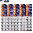 200Pcs/20Card PKCELL 1.5V AG3 Button battery LR41 LR192 V3GA SR41 192 392 SR736 Alkaline Button Coin cell Watch Batteries