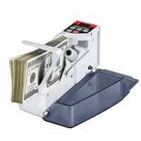Portable Handy Money Counter for All Currency Note Bill Cash Counting Machine V40 Financial Equipment US EU Plug