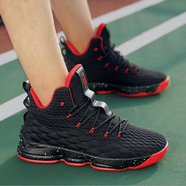 New Arrival High Top Cushioning Basketball Shoes Lace Up Shockproof Couple Georgetown Athletic Outdoor Sport Shoes size 35-46