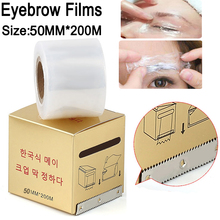 Eyebrow Film 50MM*200M Tattoo permanent Makeup Eyebrow Liner Plastic Wrap Preservative Films for Tattoo Accessory Free Shipping