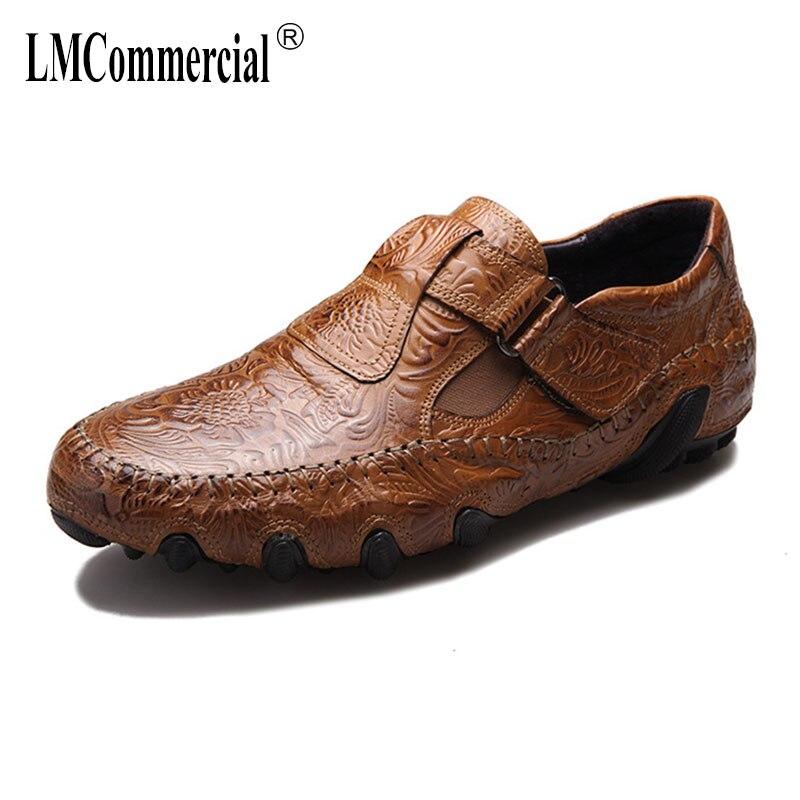 Novos De Respirável Sapatos Natural Homens Couro Preguiçosos Dos Casuais Mocassins Macia chocolate Preto Genuíno Verão Lazer Sola EX85Uxwq