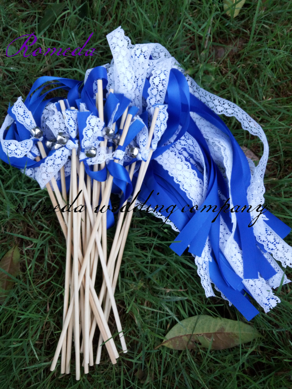 Style D New Arrived 3 Ribbons stick wedding wands with lace Blue Ribbon Birthday Party christamas