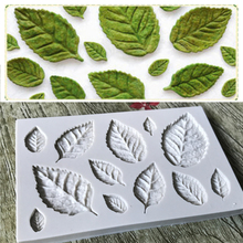 New Arrival Sugarcraft silicone mold Candy Polymer Clay Molds Fondant Silicone Cake Mold Flower Making GumPaste Rose Leaf
