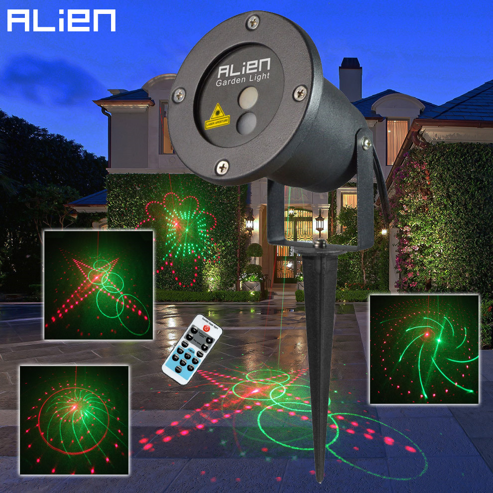 Buy alien remote red green 20 patterns laser light outdoor waterproof xmas - Outdoor laser light show ...