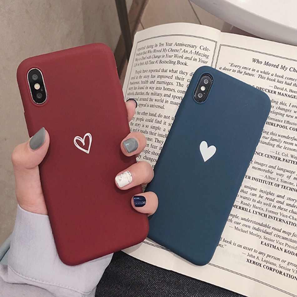 Для Xiaomi Redmi 7 Note 7 6 Pro 5 Redmi 4A 4X5 Plus 6a S2 a2 lite чехол с сердечком и принтом задняя крышка Ретро Прекрасный матовый мягкий чехол