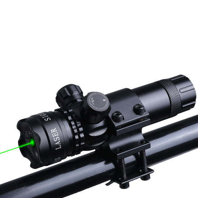 New aluminum alloy laser sight red and green laser aiming up and down adjustable waterproof and anti-vibration laser sight
