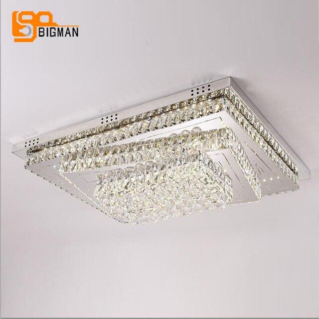 nieuwe grote led plafondverlichting moderne kristallen lamp daglicht warm wit cristal plafonnier woonkamer slaapkamer verlichting
