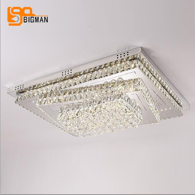 new large LED ceiling lights modern crystal lamp daylight warm white