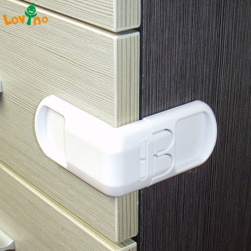 10PCS Drawer lock for children Safety lock baby door Safety buckle Prevent open drawer cabinets Anti pinch hand protect drawer