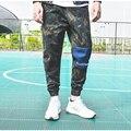 Parche Militar Del Ejército militar Del Estilo del Mens Pantalones de Camuflaje Camo Pantalones Capri Hombres Street Punk Pantalón Elástico Pantalones Cargo Pantalones