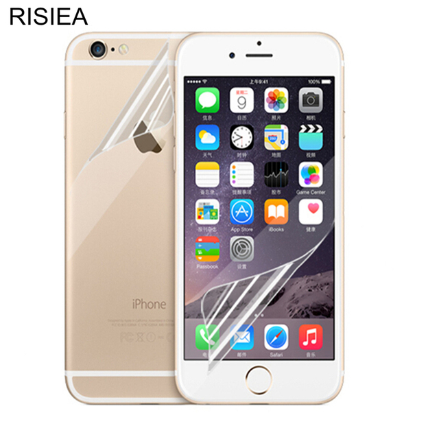 RISIEA 5pcs Front+5pcs back clear glossy Screen Protector Film Guard For  iphone X 8 4 4S 5 5S SE 6 6S plus 7 8 plus XR XS XS Max 955e2b4dcd